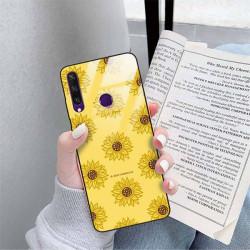 ETUI BLACK CASE GLASS NA TELEFON HUAWEI Y6S ST_SUNFLOWERS-2020-1-106