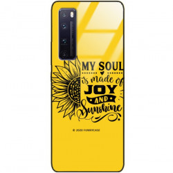 ETUI BLACK CASE GLASS NA TELEFON HUAWEI NOVA 7 PRO ST_SUNFLOWERS-2020-1-107