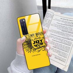 ETUI BLACK CASE GLASS NA TELEFON HUAWEI NOVA 7 PRO ST_SUNFLOWERS-2020-1-107