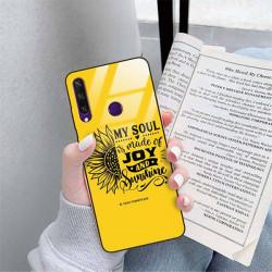 ETUI BLACK CASE GLASS NA TELEFON HUAWEI Y6S ST_SUNFLOWERS-2020-1-107