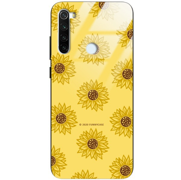 ETUI BLACK CASE GLASS NA TELEFON XIAOMI REDMI NOTE 8T ST_SUNFLOWERS-2020-1-107
