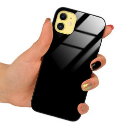 ETUI BLACK CASE GLASS NA TELEFON OPPO A8 2020 CZARNY