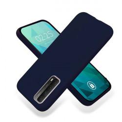 ETUI GUMA SMOOTH NA TELEFON HUAWEI P SMART 2021 GRANATOWY