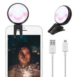 LAMPA DO TELEFONU SELFIE BEAUTY FILL CZARNY WZ7