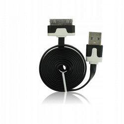 KABEL USB iPHONE 3G - PŁASKI CZARNY