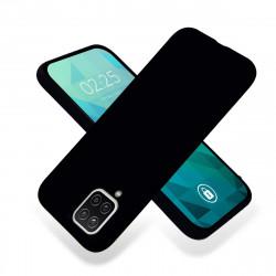 ETUI GUMA SMOOTH NA TELEFON SAMSUNG GALAXY A12 CZARNY