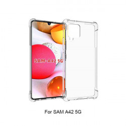 ETUI ANTI-SHOCK NA TELEFON SAMSUNG GALAXY A42 5G TRANSPARENT