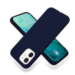 ETUI GUMA SMOOTH NA TELEFON APPLE IPHONE 12 MINI GRANATOWY