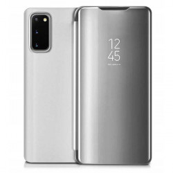 ETUI BOOK CLEAR VIEW NA TELEFON HUAWEI P SMART 2021 SREBRNY
