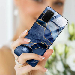 ETUI BLACK CASE GLASS NA TELEFON SAMSUNG GALAXY S20 PLUS ST_AGST-203
