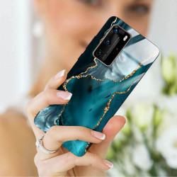 ETUI BLACK CASE GLASS NA TELEFON HUAWEI P40 PRO PLUS ST_AGST-204