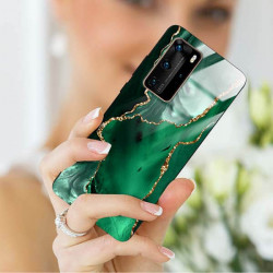 ETUI BLACK CASE GLASS NA TELEFON HUAWEI P40 PRO PLUS ST_AGST-206