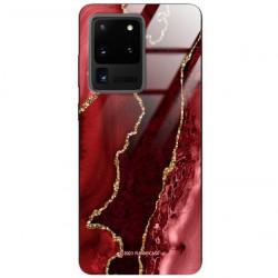 ETUI BLACK CASE GLASS NA TELEFON SAMSUNG GALAXY S20 ULTRA ST_AGST-207