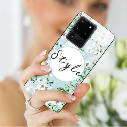 ETUI BLACK CASE GLASS NA TELEFON SAMSUNG GALAXY S20 ULTRA ST_SPRG-206