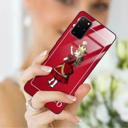 ETUI BLACK CASE GLASS NA TELEFON SAMSUNG GALAXY S20 PLUS ST_QUEEN-OF-CARDS-200