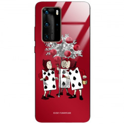 ETUI BLACK CASE GLASS NA TELEFON HUAWEI P40 PRO PLUS ST_QUEEN-OF-CARDS-201