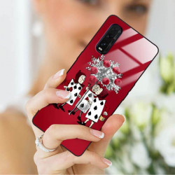ETUI BLACK CASE GLASS NA TELEFON OPPO FIND X2 ST_QUEEN-OF-CARDS-201