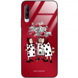 ETUI BLACK CASE GLASS NA TELEFON HUAWEI Y9S ST_QUEEN-OF-CARDS-201