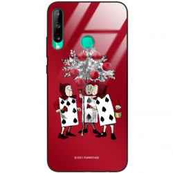 ETUI BLACK CASE GLASS NA TELEFON HUAWEI Y7P ST_QUEEN-OF-CARDS-201