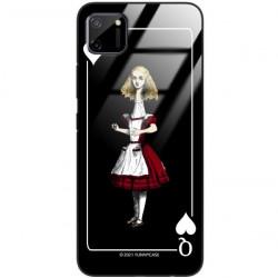 ETUI BLACK CASE GLASS NA TELEFON REALME REALME C11 ST_QUEEN-OF-CARDS-202