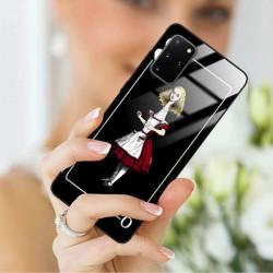 ETUI BLACK CASE GLASS NA TELEFON SAMSUNG GALAXY S20 PLUS ST_QUEEN-OF-CARDS-202