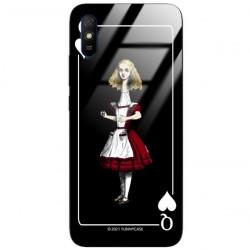 ETUI BLACK CASE GLASS NA TELEFON XIAOMI REDMI 9A ST_QUEEN-OF-CARDS-202