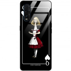 ETUI BLACK CASE GLASS NA TELEFON OPPO FIND X2 ST_QUEEN-OF-CARDS-202