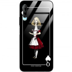 ETUI BLACK CASE GLASS NA TELEFON HUAWEI Y9S ST_QUEEN-OF-CARDS-202