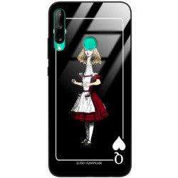 ETUI BLACK CASE GLASS NA TELEFON HUAWEI Y7P ST_QUEEN-OF-CARDS-202