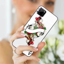 ETUI BLACK CASE GLASS NA TELEFON REALME REALME C11 ST_QUEEN-OF-CARDS-203
