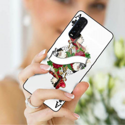 ETUI BLACK CASE GLASS NA TELEFON OPPO FIND X2 ST_QUEEN-OF-CARDS-203