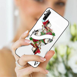 ETUI BLACK CASE GLASS NA TELEFON HUAWEI Y9S ST_QUEEN-OF-CARDS-203