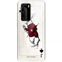 ETUI BLACK CASE GLASS NA TELEFON HUAWEI P40 PRO PLUS ST_QUEEN-OF-CARDS-204