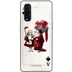ETUI BLACK CASE GLASS NA TELEFON OPPO FIND X2 ST_QUEEN-OF-CARDS-205
