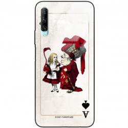 ETUI BLACK CASE GLASS NA TELEFON HUAWEI Y9S ST_QUEEN-OF-CARDS-205