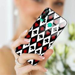 ETUI BLACK CASE GLASS NA TELEFON HUAWEI P40 LITE E ST_QUEEN-OF-CARDS-206