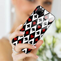 ETUI BLACK CASE GLASS NA TELEFON REALME REALME C11 ST_QUEEN-OF-CARDS-206