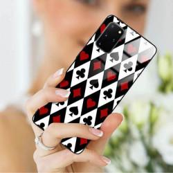 ETUI BLACK CASE GLASS NA TELEFON SAMSUNG GALAXY S20 PLUS ST_QUEEN-OF-CARDS-206
