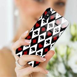 ETUI BLACK CASE GLASS NA TELEFON XIAOMI REDMI 9A ST_QUEEN-OF-CARDS-206