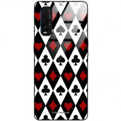 ETUI BLACK CASE GLASS NA TELEFON OPPO FIND X2 ST_QUEEN-OF-CARDS-206
