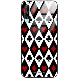 ETUI BLACK CASE GLASS NA TELEFON HUAWEI Y9S ST_QUEEN-OF-CARDS-206