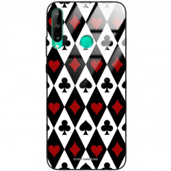 ETUI BLACK CASE GLASS NA TELEFON HUAWEI Y7P ST_QUEEN-OF-CARDS-206
