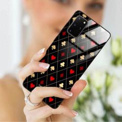 ETUI BLACK CASE GLASS NA TELEFON SAMSUNG GALAXY S20 PLUS ST_QUEEN-OF-CARDS-207
