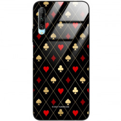 ETUI BLACK CASE GLASS NA TELEFON HUAWEI Y9S ST_QUEEN-OF-CARDS-207