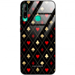 ETUI BLACK CASE GLASS NA TELEFON HUAWEI Y7P ST_QUEEN-OF-CARDS-207