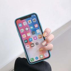 ETUI GUMA SMOOTH NA TELEFON APPLE IPHONE X / XS SZARO-NIEBIESKI