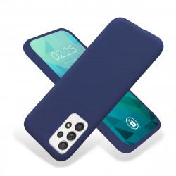 ETUI GUMA SMOOTH NA TELEFON SAMSUNG GALAXY A52 / A52 5G GRANATOWY