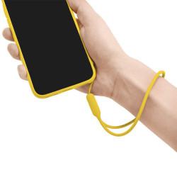 SMYCZ GUMOWA UNIWERSALNA DO TELEFONU / ETUI ŻÓŁTY