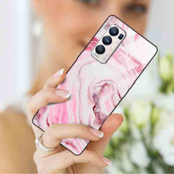 ETUI BLACK CASE GLASS NA TELEFON OPPO RENO 5 PRO PLUS ST_MARM-2021-3-101