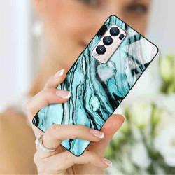 ETUI BLACK CASE GLASS NA TELEFON OPPO RENO 5 PRO PLUS ST_MARM-2021-3-104